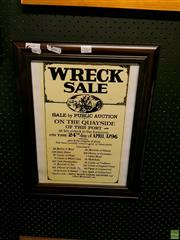 Sale 8582 - Lot 2064 - 1796 Wreck Sale Print