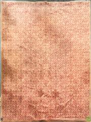 Sale 8637 - Lot 1034 - Large Orange Tone Floral Pattern Rug (363 x 275cm)