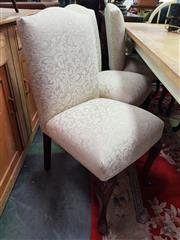 Sale 8672 - Lot 1059 - Set of Six Cream Upholstered Dining Chairs