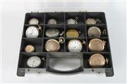 Sale 8747 - Lot 43 - Assorted Pocket Watches, Cases and Parts