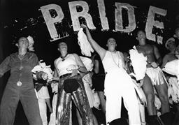 Sale 9082A - Lot 5002 - Dancers, Sydney Gay and Lesbian Mardi Gras Parade (1994), 29 x 20 cm, silver gelatin, Photographer: unknown
