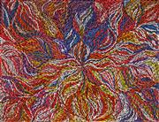 Sale 9030 - Lot 555 - Rosemary (Pitjara) Petyarre (c1965 - ) - Yam Leaf Dreaming 155 x 202 cm (stretched and ready to hang)