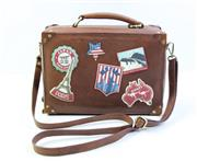 Sale 8997 - Lot 11 - Yoshi Leather Suitcase Handbag, H 25 x L 26 x D 11 cm