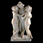 Sale 8000 - Lot 357 - A marble figural group of The Three Graces after the antique.