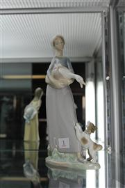 Sale 7989 - Lot 1 - Lladro Figure Group of a Maid with Duck & Goose