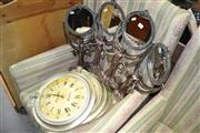 Sale 8115 - Lot 1463 - Set of 4 Wall Clocks & 4 Mirrors (8)