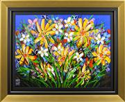 Sale 8301 - Lot 543 - David Hart (1971 - ) - Floral Fusion 91.5 x 122cm