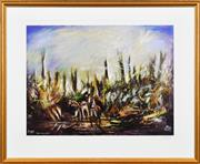 Sale 8323A - Lot 19 - Kevin Charles (Pro) Hart (1928 - 2006) - Simpson and His Donkey 57 x 76cm