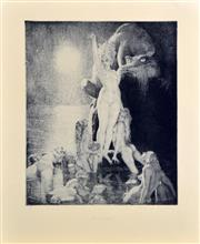 Sale 8349A - Lot 34 - Norman Lindsay (1879 - 1969) - Sea Magic 30 x 25cm