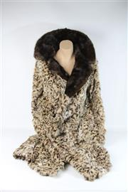 Sale 8747 - Lot 13 - A Cornelius Ocelot Coat with Mink Collar (Size 12) Ref No KBW10518