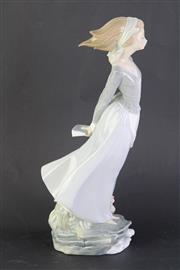Sale 8802 - Lot 35 - A Ladro Figure of A Girl Holding A Book Behind her Back ( H 36cm)