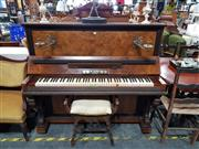 Sale 8805 - Lot 1003 - A. Lenz Upright Piano and Stool