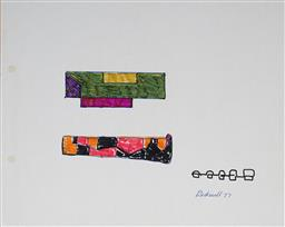 Sale 9103 - Lot 2055 - Lyndon Dadswell (1908-1986) (2 works) - Studies for Sculpture no.353 & no.354, 1977 20 x 25 cm ; 20 x 33 cm
