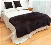 Sale 9070H - Lot 17 - A double bed with throw, and bedding including, Width 135cm