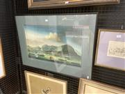 Sale 9087 - Lot 2009 - Artist Unknown (Fu Ming Ye) Harbour Scene, oil on canvas, frame: 57 x 80 cm, inscribed lower right