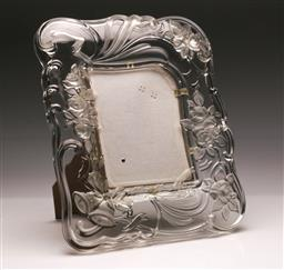 Sale 9128 - Lot 11 - Heavy set glass picture frame featuring bells and roses (37cm x 31cm)