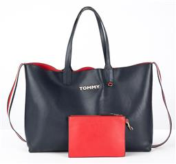 Sale 9250F - Lot 65 - A Tommy Hilfiger iconic tote bag, with one main compartment & Detachable zipped coin pouch, width 47cm, some wear.