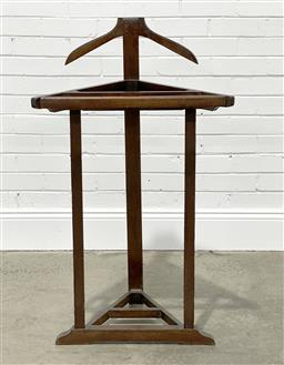 Sale 9255 - Lot 1187 - Early timber gentlemans valet (h109 x w57 x d29cm)