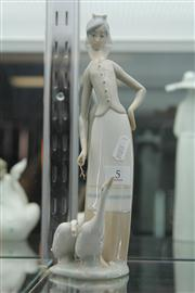 Sale 7989 - Lot 5 - Lladro Figure of a Milk Maid with Geese
