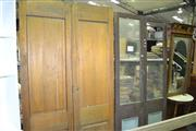 Sale 8093 - Lot 1464 - 2 Pairs of Early Interior Doors (1 missing glass)