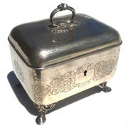 Sale 8268A - Lot 92 - HUNGARIAN SILVER JEWELLERY CASKET OR BOX