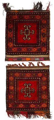 Sale 8412C - Lot 59 - 2 x Afghan Door Mats 80cm x 60cm