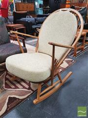 Sale 8435 - Lot 1016 - Nice Blonde Ercol Rocking Chair with cushions