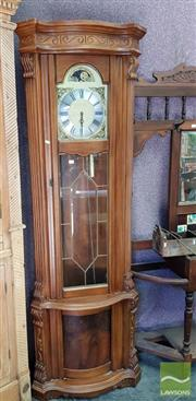 Sale 8469 - Lot 1002 - Carved Timber Grandfather Clock