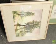 Sale 8468 - Lot 2063 - Collection of Assorted Artworks incl. original oil painting by unknown artist, original watercolour & framed decorative prints
