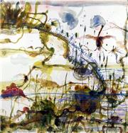Sale 8527A - Lot 19 - John Olsen (1928 - ) - The Little River 83 x 80cm