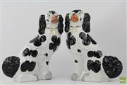 Sale 8540 - Lot 203 - Pair Staffordshire Dogs