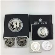 Sale 8618 - Lot 37 - The Australian Kookaburra Proof Issue Silver Coins, 1oz coins (5) together with 2oz