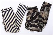 Sale 9027F - Lot 18 - Two pairs of Witchery printed pants, sizes 8 and 10