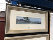 Sale 8865 - Lot 2007 - Howard B Ireland Evening Round Up, Hunter Valley oil on canvas board,  33.5 x 64cm (frame), signed