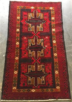 Sale 9146 - Lot 1069 - Hand knotted pure wool Persian baluchi ( 150 x 80cm)