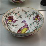 Sale 8379 - Lot 27 - Exotic Bird Hand Painted Bowl