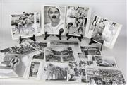 Sale 8479A - Lot 21 - Ian Hale (Shooting) Jeffrey Oliver (Socceroo Goalie) The medal Tally Board and oher Olympic photographs