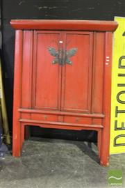 Sale 8499 - Lot 1017 - Red Chinese Cabinet
