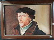 Sale 8762 - Lot 2090 - Oil Painting of a Scholar