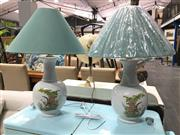 Sale 8851 - Lot 1017 - Pair of French Table Lamps with Pheasants (2580)