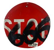 Sale 9055A - Lot 5021 - Boris Bally (1961-) - STOP 666 (Morning For The Masses) 40 x 40 x 3 cm