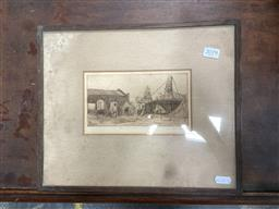 Sale 9094 - Lot 2079 - Bim Hilder The Circus drypoint etching 29 x 35cm (frame) signed