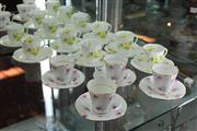Sale 8112 - Lot 33 - Shelley Primrose Set of 6 Cup Saucers with 4 Grafton Cup Saucers