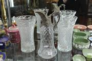 Sale 8217 - Lot 69 - Bohemian Glass Set of 6 Etched Champagnes with Other Glass incl Italian
