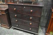 Sale 8359 - Lot 1092 - A Late 19th Century Cedar Chest of Five Drawers, raised on turned feet.