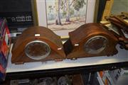 Sale 8379 - Lot 100 - English Timber Mantle Clock with Another
