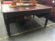 Sale 8839 - Lot 1337 - Timber Desk with 4 Drawers with Chair