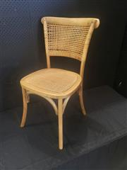 Sale 8951 - Lot 1070 - Set of Six Natural Rattan Back Dining Chairs (H: 87, W: 50, D: 52cm)