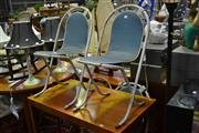 Sale 8039 - Lot 1089 - Set of 3 Vintage Industrial Style Chairs w Another