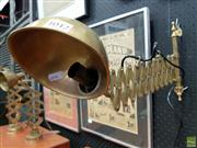Sale 8566 - Lot 1042 - Large Reproduction Brass Wall Mount Ships Lamp